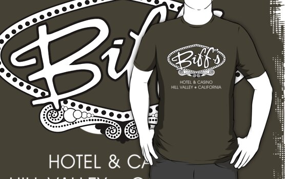 Biff's Hotel and Casino (Back to the Future) Dark Shirt by TGIGreeny