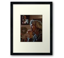 Waiting for Coffee Framed Print