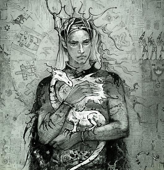 Prince and the little dragon by Natasha Tabatchikova