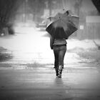 Walking in the Rain III by Appel
