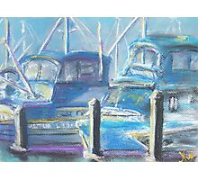 Harbor Pair (pastel) Photographic Print