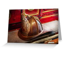 Fireman - Hat - Commander  Greeting Card
