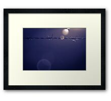 Barbed Wire Sunset in Shropshire Framed Print