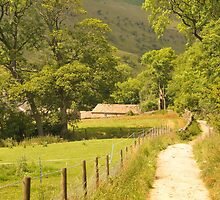 Road near Edale, Derbyshire, UK by Catherine Ames