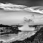 Niagara Falls Far View  by Brad Walsh
