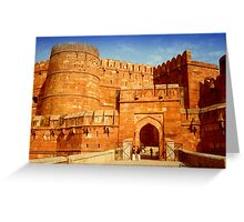 Entrance to The Red Fort - Agra Greeting Card