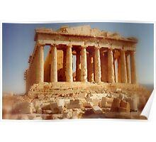 The Parthenon at the Acropolis Poster