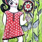 DANCING WITH FLOWERS by Barbara Cannon Art Studio