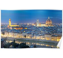 Florence Panorama by night  Poster