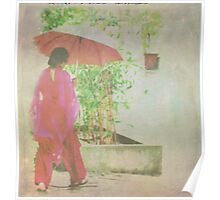 Lady with the umbrella Poster