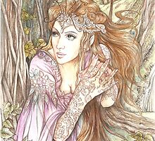 Elf in the Flowers by morgansartworld