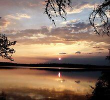 Sunset on Winteringham Lake, NE Sask,Canada by MaeBelle