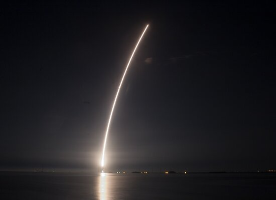 Delta IV at night by Larry  Grayam