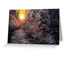 Glow On The Snow Greeting Card