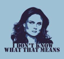 Bones - Temperance Brennan in blue T-Shirt