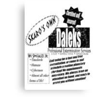 Daleks Professional Services Canvas Print