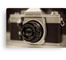 praktica SLR with Russian Industar 50mm lens Canvas Print