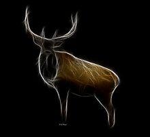 Medicine Wheel Totem Animals by Liane Pinel- Elk by Liane Pinel