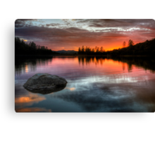 Burning Calm Canvas Print