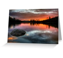 Burning Calm Greeting Card