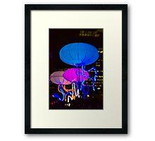 The Jellies! - Sydney Vivid Festival - Australia Framed Print