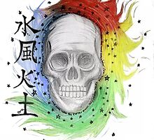 skull combined with the elements by Kachelle