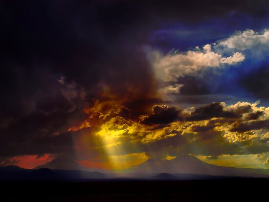 Three Sisters Storm by Charles & Patricia   Harkins ~ Picture Oregon