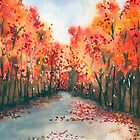 Autumn Journey - Landscape Watercolour by Brazen Edwards-Hager