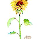 Solo Sunflower by arline wagner