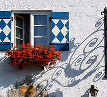 Bavarian shutters and a window box by Laurel Eby