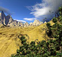 Desert Terrain Scene # 7 by Junior Mclean