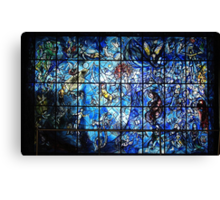 Chagall Stained Glass  Canvas Print