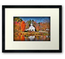 Purling Beck Grange Hall Framed Print