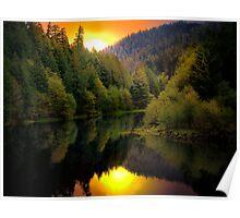 Green Peter Reservoir and Quartzville Creek Poster