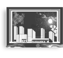 Time And City Space Canvas Print