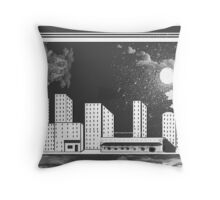 Time And City Space Throw Pillow