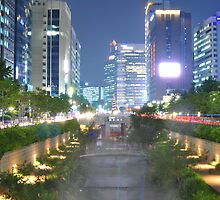 Light Show on the Cheonggyecheon by Christian Eccleston