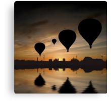 Sunset Balloon Reflection Canvas Print
