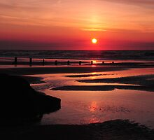 The Sun Goes Down.2. Brancaster Bay uk. by PhillipJones