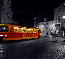 Tram at Night by SerenaB