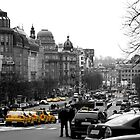 Taxis in Wenceslas Square by SerenaB