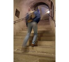Up the Stairs in Prague Castle Photographic Print