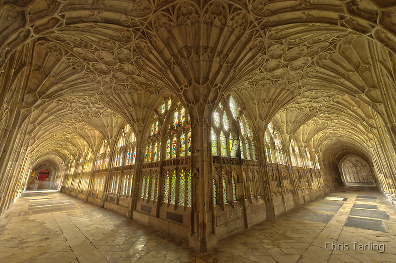 Gloucester Cathedral Cloisters I by Chris Tarling