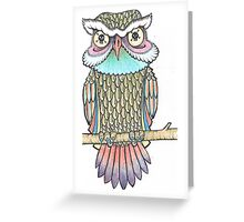 owl that can see the dead Greeting Card
