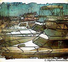 Boats at Hillarys Harbour by AlyZen