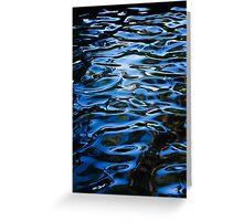 Waterpatterns in Blue Greeting Card