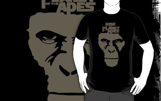 Rise of the planet of the apes movie t-shirt by Scott Barker