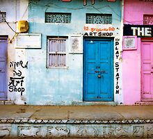 Coloured Doorways by Mark Smart