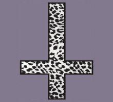 Snow Leopard Cross Inverted T-Shirt