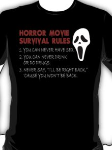 Horror Movie Rules T-Shirt
